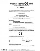 Attestato di esame CE di tipo CA50.00146 2005-10-11 04089 – 04089_1p_12_ca5000146_2005