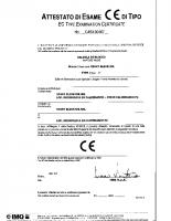 Attestato di esame CE di tipo CA50.00467 2006-10-27 04114 – 04114_1p_00_ca5000467_2006