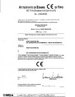 Attestato di esame CE di tipo CA50.00468 2006-10-27 04110 – 04110_1p_14_ca5000468_2006_p2