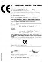 Attestato di esame CE di tipo I 0190 2002-01-28 04088 – attestato_ce_0190_280102_it