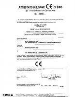 Attestato di esame CE di tipo I 0190 2005-10-11 04088 – 04088_1p_12_i0190_2005