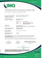 Certificato di esame UE del tipo CA50_00467_rev0 – CA50_00467_rev0_Start Elev