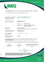 Certificato di esame UE del tipo CA50_00468_rev0 – CA50_00468_rev0_Start Elev