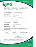 Certificato di esame UE del tipo I0190_rev0 – I0190_rev0_Start Elev