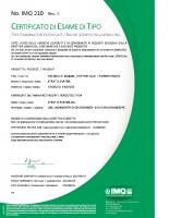Certificato di esame di tipo IMQ 210 rev 0.pdf – IMQ 210 rev 0