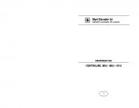 Istruzioni per l'uso CENTRALINE 96:U-98:U-01:U – l98Ui0701