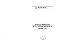 Istruzioni per l'uso VALVOLA DI BLOCCO 1:2 03026 – 03027 – laVB03026_03027
