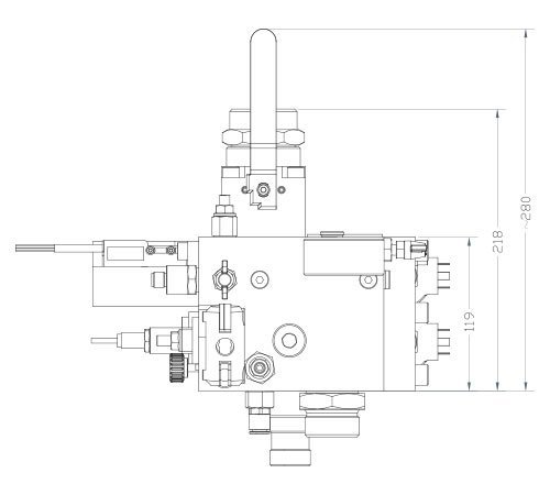 disegno tecnico centralina HSe250 1