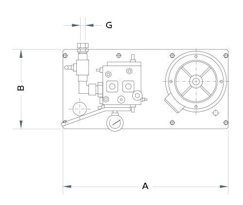 disegno tecnico centralina aria foto 2