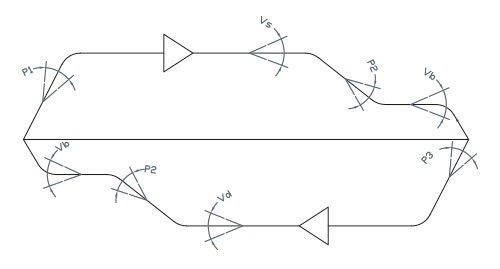 disegno tecnico gruppo valvole 96E