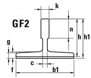 Disegno guide trafilate GF2