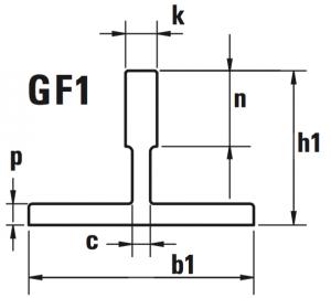 guide ascensori trafilate GF1 disegno 300x270